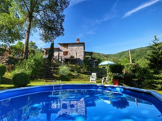 Holiday home at 400 m altitude, with garden and pool, beautiful view