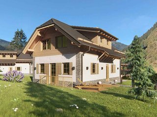 Modern detached chalet with sauna near the ski lift.