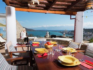 Typical greek house near Elounda, NE coast, with beautiful view on Elounda Bay.