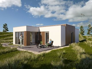 Modern bungalow with three bathrooms, 500 m. from the beach