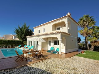 Elegant Villa in Carvoeiro Algarve with swimming pool and garden with seating ar