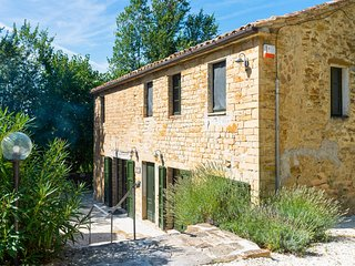 Villa Carina is a converted farmhouse set in about a hectare of gardens, orchard