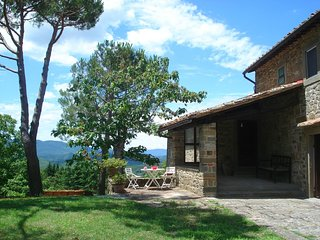 Part of an authentic Tuscan farmhouse with stunning views on the Mugello hills