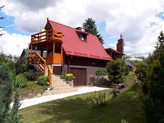 Cozy Cottage in Brodnica Gorna Poland with Sauna and Jacuzzi