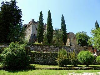 Vintage Castle in Monteriggioni Tuscany near Forest