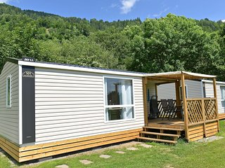 New luxury mobile home on a small, friendly campsite on the river Drau