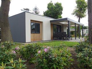 Modern chalet with a terrace near Recreatieplas Zeumeren