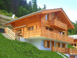 A luxurious 12 person chalet with superb view.