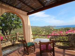 Quaint Holiday Home in Geremeas Sardinia with Sea view