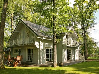 An attractively furnished chalet in a modern style. There is plenty to enjoy in