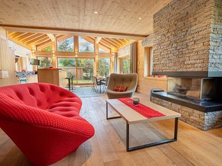 Chalet le Lynx: luxury gateway with a gym, sauna and 100m from the pistes!