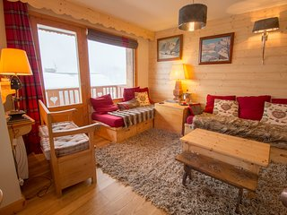 Renovated and Comfortable 6pers Meribel Centre, 100m Slopes and shops!