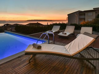 Luxurious villa with private pool, amazing panoramic sea view and wellness area