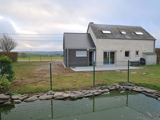 Modern Holiday Home in Bertogne with Meadow Nearby