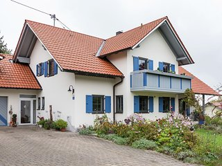 Cosy apartment in the Ostallgau with balcony and a magnificent view