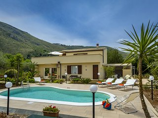 Beautiful detached villa with private pool surrounded by hills and nature.