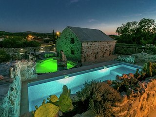 Authentic stone house with 2 swimming pools,  guesthouse, taverne, wine cellar