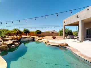 Gorgeous desert home w/ a private pool, gas grill, firepit, & views
