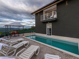 Villa Art house mit Pool und einem schönen Blick auf das Tal der Mirna