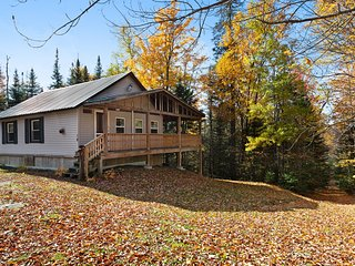 Secluded cabin near tons of outdoor activities! Walk to the lake, 2 dogs OK!