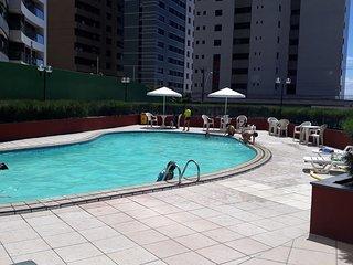 Apartamento completo à beira-mar no melhor local de Fortaleza