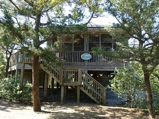 Sea Oats-Bright, airy cottage, privately nestled among oaks.
