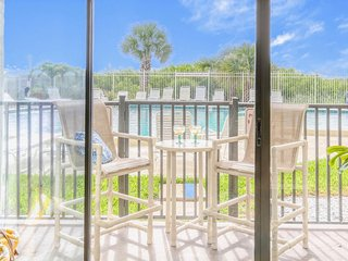 Beautiful Oceanfront Unit on Ground Floor -  Just Step Outside to Pool & Beach!!
