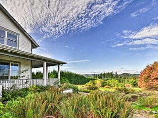 NEW! Rainier Home on 40 Acres w/Blueberry Orchard!