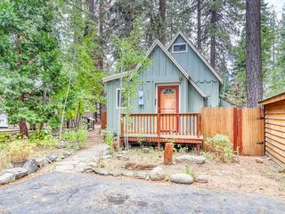 Dog-friendly cabin w/ a private hot tub, patio, & gas grill