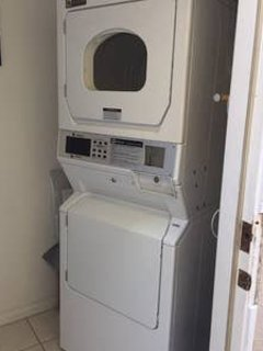 Coin op washer and dryer, shared by both units.  Detergent included!