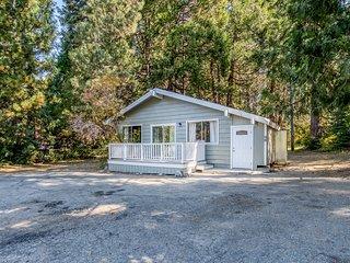 Cozy, dog-friendly cabin near the lake w/ a full kitchen & spacious deck