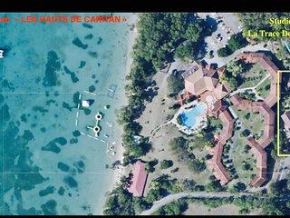 Studio La Trace des Caps TT confort pieds dans l'eau Sainte Anne Martinique