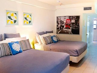 Domio | South Beach | Amazing Double Queens Studio | Parking