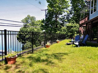 Picture-perfect lakefront house w/ furnished deck, firepit, & more!