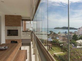 Apto de Luxo 4 dorms 10 pessoas Vista Mar - Condomínio Alto Padrão com Piscina -
