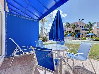 Unit #107 Sand Cay Beach Resort Pool and Garden View