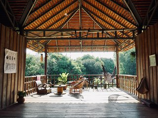 Private suite with private bathroom in Khmer wooden house