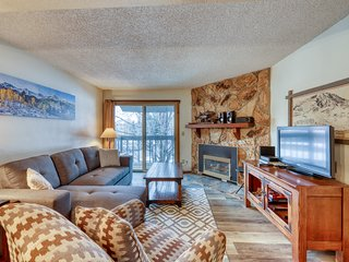 Charming condo w/ fireplace & shared hot tubs - walk to the lifts!