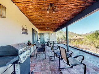 Dog-friendly, Cave Creek home w/ covered patio, private hot tub, mountain views