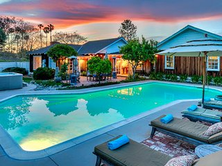Breathtaking dog-friendly home with private pool, hot tub - walk to beach!