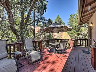 NEW! Cabin w/Large Deck ~1Block to Coconino Forest