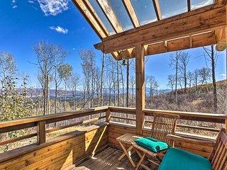 Modern Cabin w/ Balcony Views + Fireplace!
