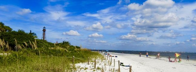 The Sanibel Island beaches are a great place to relax by enjoying shelling, fishing or bird watching