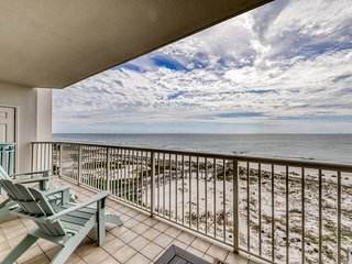 Waterfront beach retreat w/ six shared pools, sports courts, gym, & beach access