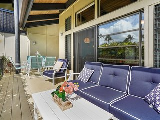 NEW LISTING! Open & airy condo w/ lanai & shared pool - near beaches & golf!