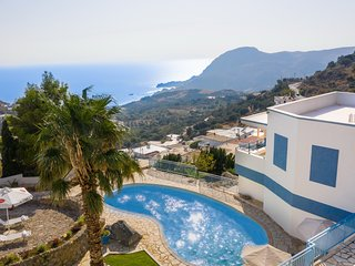 Spacious villa,Splendid sea view,Private pool,South Crete