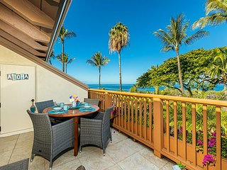 Maui Kamaole #A-210 2Bd/2Ba Front Row, Panoramic Ocean View, A/C, Sleeps 6