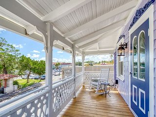 Historic District Gem w/ Updated Victorian Flair & Private Balcony