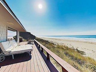 Large Beachfront Home w/ Wraparound Deck & Epic Ocean Views!
