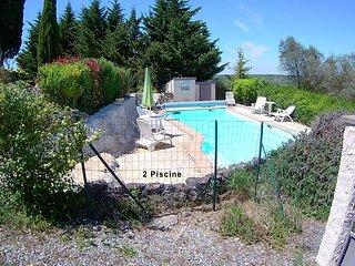 Beau cottage d'artiste, piscine, vue exceptionnelle, classe site remarquable